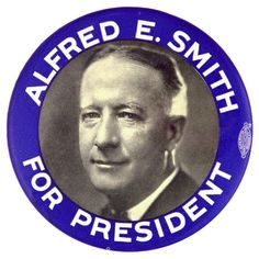 Al Smith button, 1928
