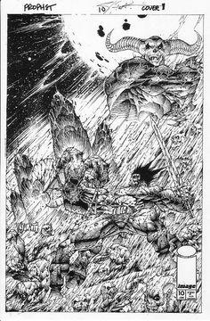 Prophet #10 cover art by Stephen Platt, in Craig Devena's Stephen Platt Comic Art Gallery Room
