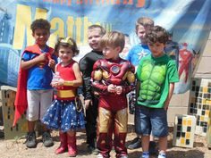 Avenger super hero-kids came as super Heros