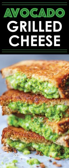 Avocado Grilled Cheese  So buttery and just downright AHMAZING oozing with avocado cheesy goodness. It's the best grilled cheese ever hands down!