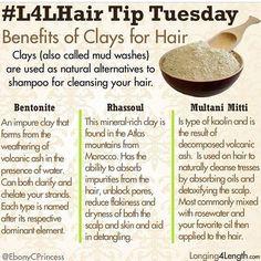 Benefits of clay washing hair Natural Hair Care Tips, Natural Hair Journey, Natural Hair Styles, Long Hair Styles, Weave Hairstyles, Straight Hairstyles, Hairdos, Hair Clay, Hair Care Recipes