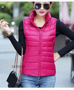 Ladies pink vest