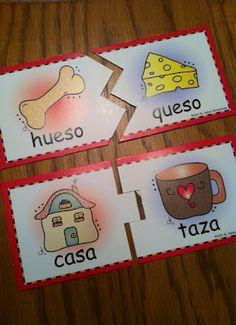 Spanish rhyming activities. Dual language teacher's blog.