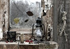 Abandoned place Mason Jar Lamp, Abandoned Places, Light In The Dark, Lanterns, Table Lamp, Lighting, Inspiration, Painting, Home Decor