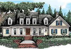Tavistock - Home Plans and House Plans by Frank Betz Associates #tavistock #homeplans #frankbetz  #floorplans #capecod