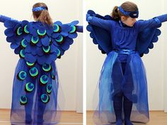 Here's a great step-by-step guide on how to sew a beautiful peacock costume!