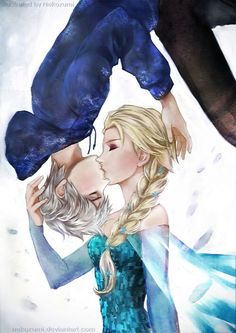 Jack and elsa jelsa pinterest elsa jelsa and jack frost queen elsa and jack frost from the movie rise of the guardians this is gonna thecheapjerseys Choice Image