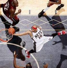 Vince Carter New Jersey Nets Shaquille O'Neal Udonis Haslem Miami Heat