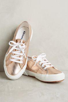 Superga Rose Gold Metallic Sneakers