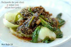 Salteado de pak choi y setas con salsa teriyaki | Mar Rojo 19
