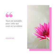 """@creer1blog posted to Instagram: """"Tout est possible pour celui qui croit en lui-même."""" - Anonyme C'est une façon de dire de ne rien lâcher. J'imagine que comme moi, vous avez toutes vos moments de doute, de peur, d'envie d'abandonner parfois... 😥 Dans ces moments, je lis des citations de ce genre pour me remotiver ! 💪 Et vous, comment faites-vous ? . . . #citations #accomplissement #croire #estimedesoi #etresoi #citationdujour #toujoursycroire #allerdelavant #determ Tout Est Possible, Dire, Motivation, Instagram, How To Make, Envy, Move Forward, Anonymous, Self Esteem"""