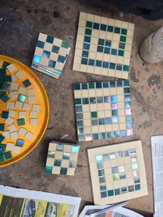 Mosaic pot stands and coasters
