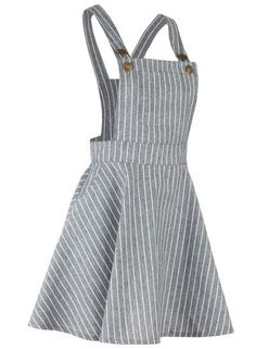 The overall dress is featuring color block striped print, asjustable shoulder straps. Teen Fashion Outfits, Cute Fashion, Girl Fashion, Fashion Dresses, Cute Summer Outfits, Fall Outfits, Kids Outfits, Casual Outfits, Jugend Mode Outfits