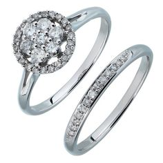 Buy 9ct White Gold 0.50ct tw Diamond Flower Cluster Bridal Set at Argos.co.uk - Your Online Shop for Engagement rings, Ladies' rings, Ladies' jewellery, Jewellery and watches.