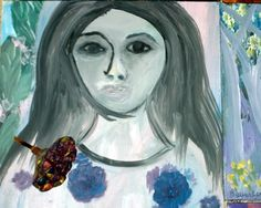 "Saatchi Art Artist Beverly Peters; Painting, ""Michelle"" #art"