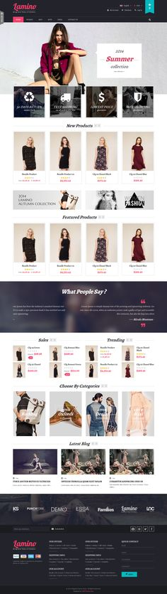 Buy SNS Lamino - Responsive Magento Theme by StephenNgo on ThemeForest. Introduction SNS lamino – A fresh and clean design. If you want to have a very unique and attractive design and tryi. Ui Ux Design, Interface Design, Layout Design, Clean Design, Web Design Inspiration, Business Fashion, Fashion Clothes, Website Themes, Shopping