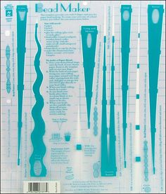 Hot Off The Press Templates 8.5x11 Bead Maker Product Detail -- CreateForLess