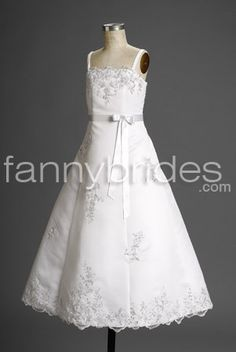 904f8ad17285 Buy 2013 Exquisite Satin Straps Applique Floor Length Actual First  Communion Dress Online Cheap Prices