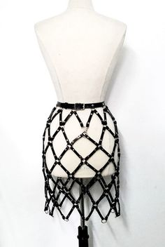 SS15 Linked Harness Pencil Skirt
