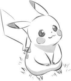 Lined sweet Pikachu - Zeichnen - Pokemon Pikachu Drawing, Pokemon Sketch, Pikachu Art, Cute Pikachu, Anime Sketch, Pikachu Tattoo, Art Drawings Sketches, Disney Drawings, Cartoon Drawings