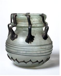 Jar  Place of origin: Syria (probably, made)  Date: 400-550 (made)  Artist/Maker: Unknown (production)  Materials and Techniques: Applied thread decoration