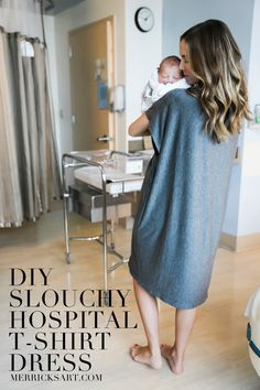 DIY FRIDAY: SLOUCHY HOSPITAL T-SHIRT DRESS (Merricks Art)