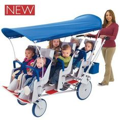 Angeles Runabout 6 Passenger Daycare Commercial Bye Bye Stoller w/ Canopy ; Price : $1,299.00