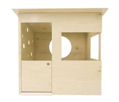 modern playhouse, selling for $1099! i could make that, so easy. 5 sheets of birch ply, comin' right up...