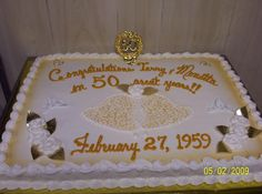 50th Wedding Anniversary Sheet Cakes | Anniversary Cakes » LindasBakeryok.com - Say it Sweetly!!!