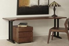 Keep it simple as you pull up a chair and work or study at your Coast to Coast Live Edge Writing Desk . This lean, minimal writing desk features. Compact Furniture, Home Office Furniture, Furniture Deals, Trestle Legs, Drawer Filing Cabinet, Hanging Files, City Living, Acacia Wood, Writing Desk