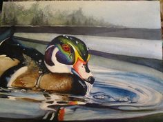 This painting was shared by Ginny Watts. She painted this watercolor on Arches Cold Press paper with Winsor & Newton Watercolours. I love a good duck painting. Ginny - thank you very much for sharing this with us. #WatercolorPainting #Artwork