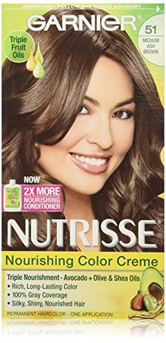 Garnier Nutrisse Nourishing Color Creme, 51 Medium Ash Brown *** Check out this great image @