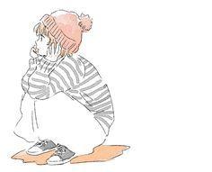 memories as a kid. Manga Art, Manga Anime, Anime Art, Cartoon Drawings, Cute Drawings, Character Art, Character Design, Estilo Anime, Girl Cartoon