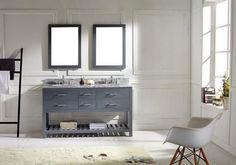 MD-2260-CAB-GR Transitional 60 Bathroom Vanity Cabinet in Grey