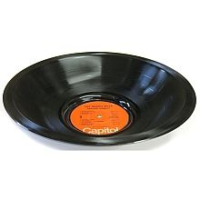 Vinylux record bowls are the flagship product of our company.  Each bowl is created from a single record, which has been molded in to a vessel form.