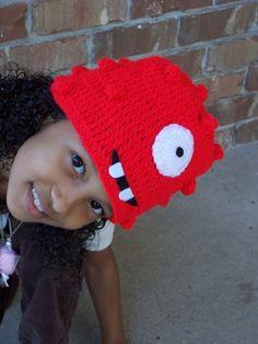 Urban Princess' Crocheted Yo Gabba Gabba Hats   Gabba Friends
