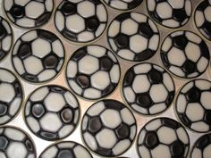 Soccer-Ball-Decorated-Cookies-Royal-Icing-Sugar by Doodlebug Cookies