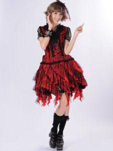 Sweet Red Cotton Blend Lace Lolita Dress