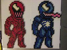 Vernon and Carnage Spiderman Hama perler beads by Sebastien Herpin