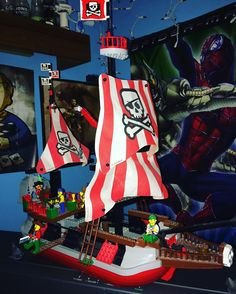 On instagram by pixelation_nation_ #retrogaming #microhobbit (o) http://ift.tt/22nQTX9 pirate ship #legooftheday ! I've had this Lego longer than any of Lego set! The posters in the background are fun too! #lego #spiderman #legocollector  #retrocollective #gaming #legos