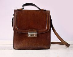 Vintage french real leather BAG