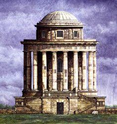 Andrew Ingamells: www.folioart.co.uk/illustration/folio/artists/illustrator/andrew-ingamells - Agency: www.folioart.co.uk - #illustration #art #line #building