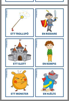 Bilder till sagoskrivning Learn Swedish, Swedish Language, Bra Hacks, Projects To Try, Barn, Teaching, Writing, Education, School