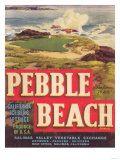 Pebble Beach Lettuce Label - Salinas  CA