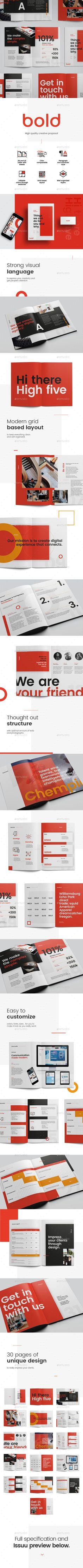 Bold Design Proposal — InDesign INDD #modern #us letter • Download ➝ https://graphicriver.net/item/bold-design-proposal/20329342?ref=pxcr