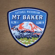 Mt. Baker Cascades Washington embroidered patch by Ben Noe for Expedition Collectibles.