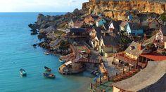 Wallpapers Popaye Anchor Bay Popeye Village Mediterranean Island Malta Hd   1920x1080