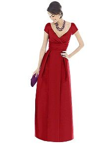 Alfred Sung Bridesmaid Dress D503    #red #bridesmaid #dress
