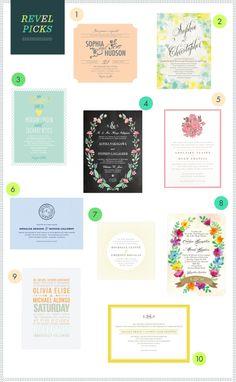REVEL Picks: Spring Wedding Invitations