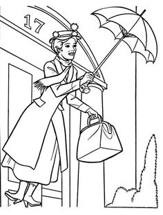 mary poppins colouring pages - Google Search | Disney ...
